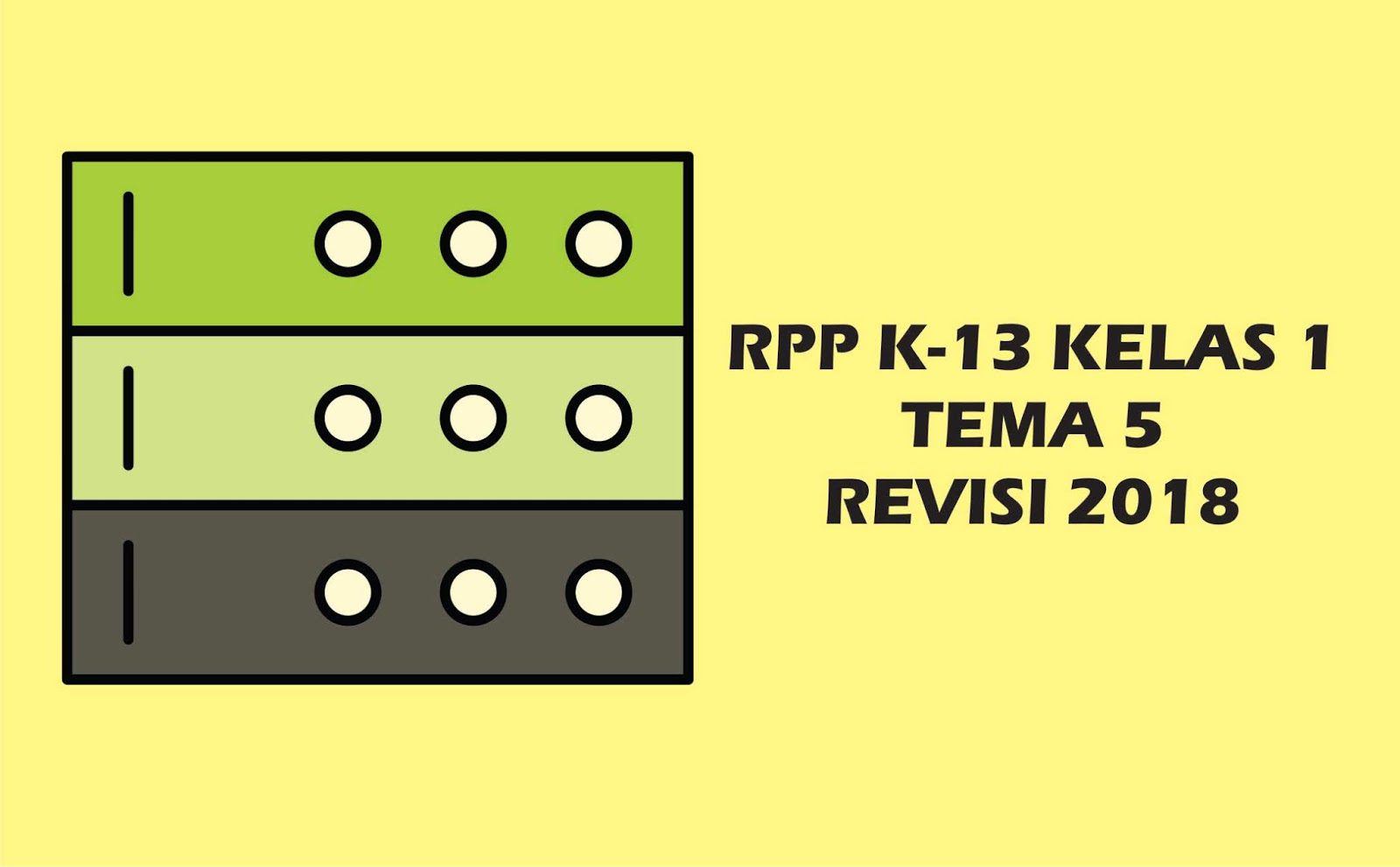 Download Gratis RPP Kelas I Tema 5 K 13 Revisi 2018