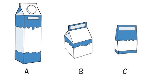 Setelah bermain peran, Beni merasa haus. Dia ingin membeli susu. Beni melihat susu disimpan dalam berbagai kemasan.