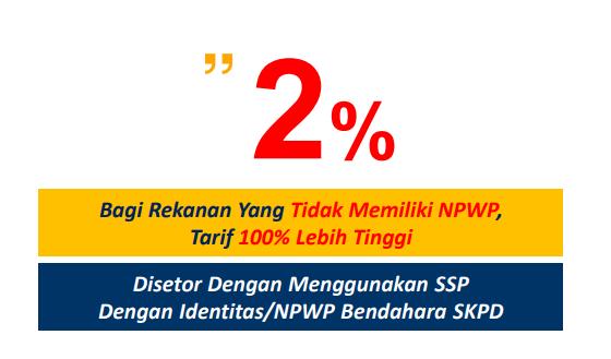 2 % bagi rekan guru yg tidak memiliki NPWP